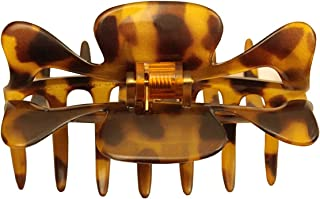 Parcelona France Savana 中号 3.5 英寸遮蔽弹簧 Celluloid Jaw Claw 发夹