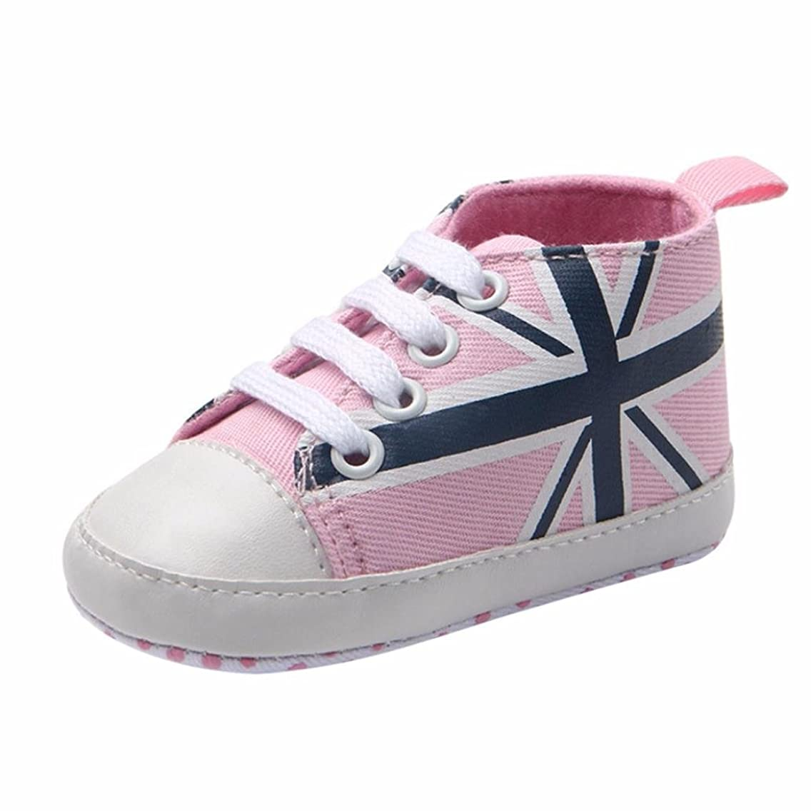 Witspace Newborn Baby Union Jack Flag Print Canvas Shoes Infant Anti-Slip Sneakers