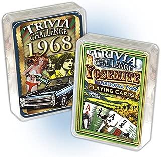 Flickback Media, Inc. 1968 Trivia Playing Cards & Yosemite National Park Trivia Card Combo: 51st Birthday