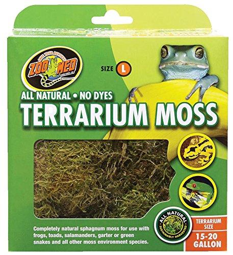 Zoo Med CF2-LE Terrarium Moss, L natürliches Moos für Terrarien
