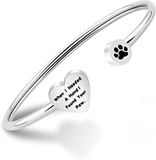 Dog Lovers Paw Print Bangle Bracelet When I Needed A Hand I Found Your Paw Bracelet for Dog Mom