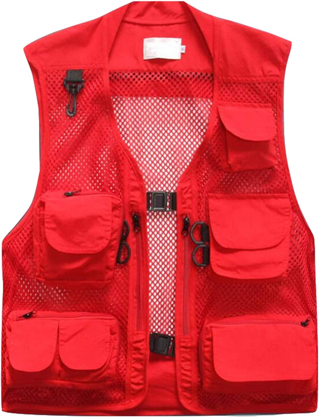 Yimoon Men's Summer Utility Multi Pocket Mesh Photography Fishing Safari Vest