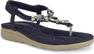 Ceriz Women's Navy Fashion Sandals