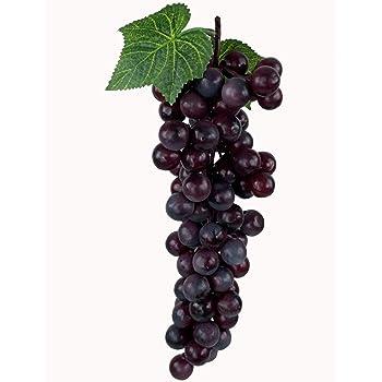 Lila WADY 2pc Deko Kunststoff Weintrauben Wein Trauben Kunstobst Plastikobst k/ünstliches Obst Gem/üse Dekoration 2 mal 17cm
