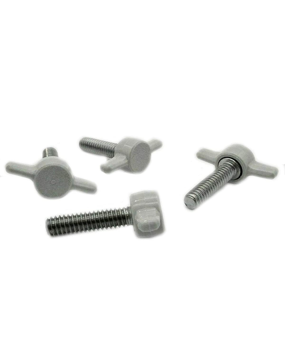 Steel High-Profile Thread Size 1//4-20 Thread Size 1//4-20 FastenerParts Knurled-Head Thumb Screw