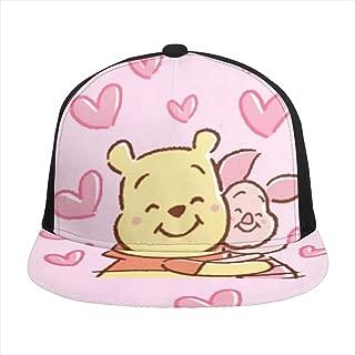 Hip-Hop Flat Baseball Snapback Cap Cap CanvasAdjustable Hat Winnie The Pooh and Piglet Hug
