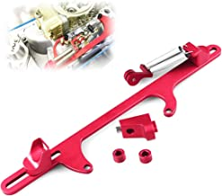 Aluminum Throttle Cable Carb Bracket Fit for Holley 4500 Series Carburetor (Red)