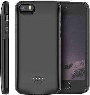 Funda Bateria para iPhone SE/5s/5, 4000mAh Batería Cargador Externa para iPhone SE/5s/5 Recargable Backup Charger Case Portátil Power Bank Case (Negro)
