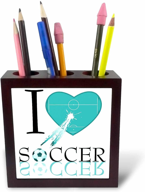3dRosa 101404 _ PH-5   und I Love Soccer Soccer Soccer 'Kachel –, Türkis, mit Kartenhalter B00BB1W708 | Hohe Qualität  c065e6