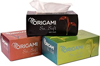Origami So Soft 2 Ply Face Tissue Box - 200 Pulls (Pack of 3)