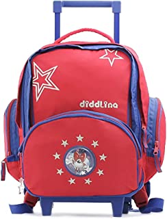 Diddl & Friends Sac à dos scolaire trolley Diddlina Children's Backpack, 46 cm, Red (Stars)