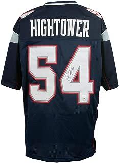 Dont'a Hightower Signed Custom Blue Pro-Style Football Jersey JSA