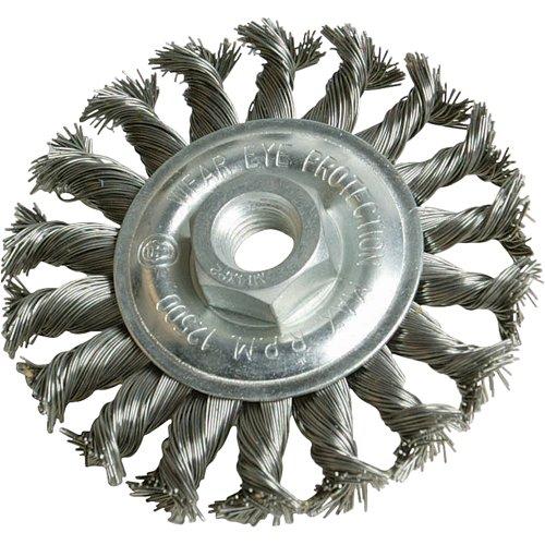 Silverline 656640 - Cepillo circular de acero trenzado (115 mm)