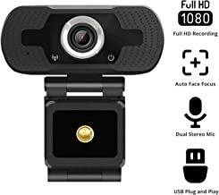 $69 » 2020 NexiGo 1080P Webcam with Built-in Microphone, 110-degree Wide Angle HD Auto Focus, Dual Stereo Mics, Widescreen USB Camera for PC/Mac Laptop/Desktop Streaming Video Calling Recording Conferencing