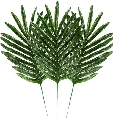 5Pcs Artificial Green Plants Decorative Palm Areca Leaves Wedding Party Decor GF