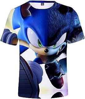 guoweiweiB Camisetas de Manga Corta para niño, Boys Cartoon Sonic Clothes Girls 3D Funny T-Shirts Costume Children Spring ...