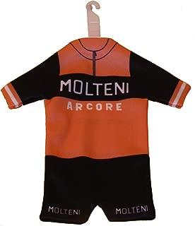 Team Molteni Eddy Merckx MiniKit Miniature Cycling Jersey Window Hanger with Suction Cup Black/Orange