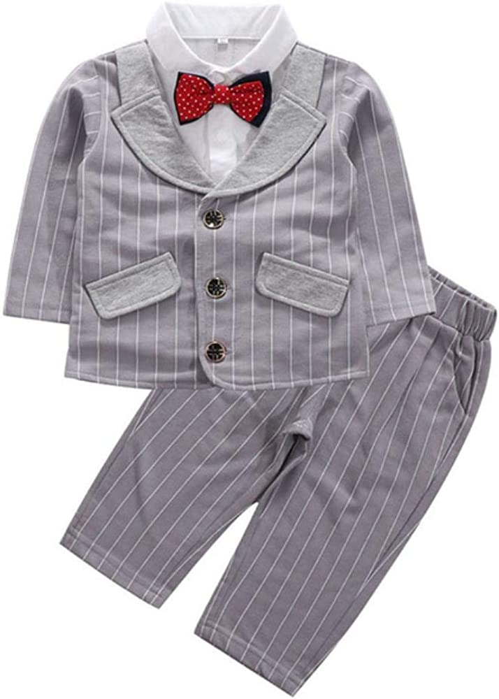 VJRQM Cash special price Baby boy Clothing Suit Striped Two-Piece Sui Choice Gentleman