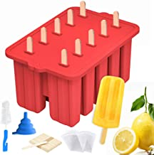 Silicone Popsicle Molds Maker,Large Homemade ICE Pop Molds Food Grade BPA Free Popsicle Mold with 50 Popsicle Sticks 50 Po...