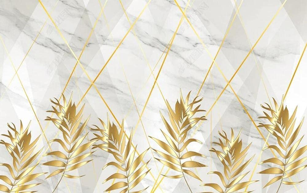 Wall Limited price Murals Wallpaper Golden Line Wallco Leaves Mural shopping Plant