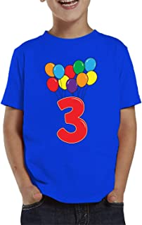 SpiritForged Apparel 3 Year Old Birthday Balloons Toddler T-Shirt