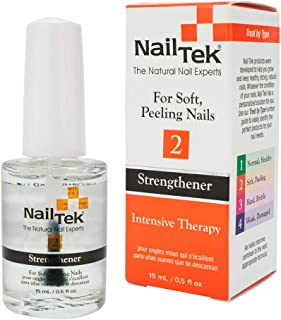 Nail Tek Intensive Therapy 2, Nail Strengthener for Soft and Peeling Nails, 0.5 oz, 2-Pack
