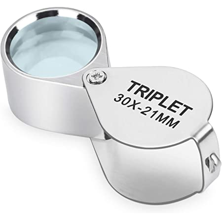TRIXES 3pc Jeweller/'s Watchmaker Eye Loupe Magnifying Glass Set