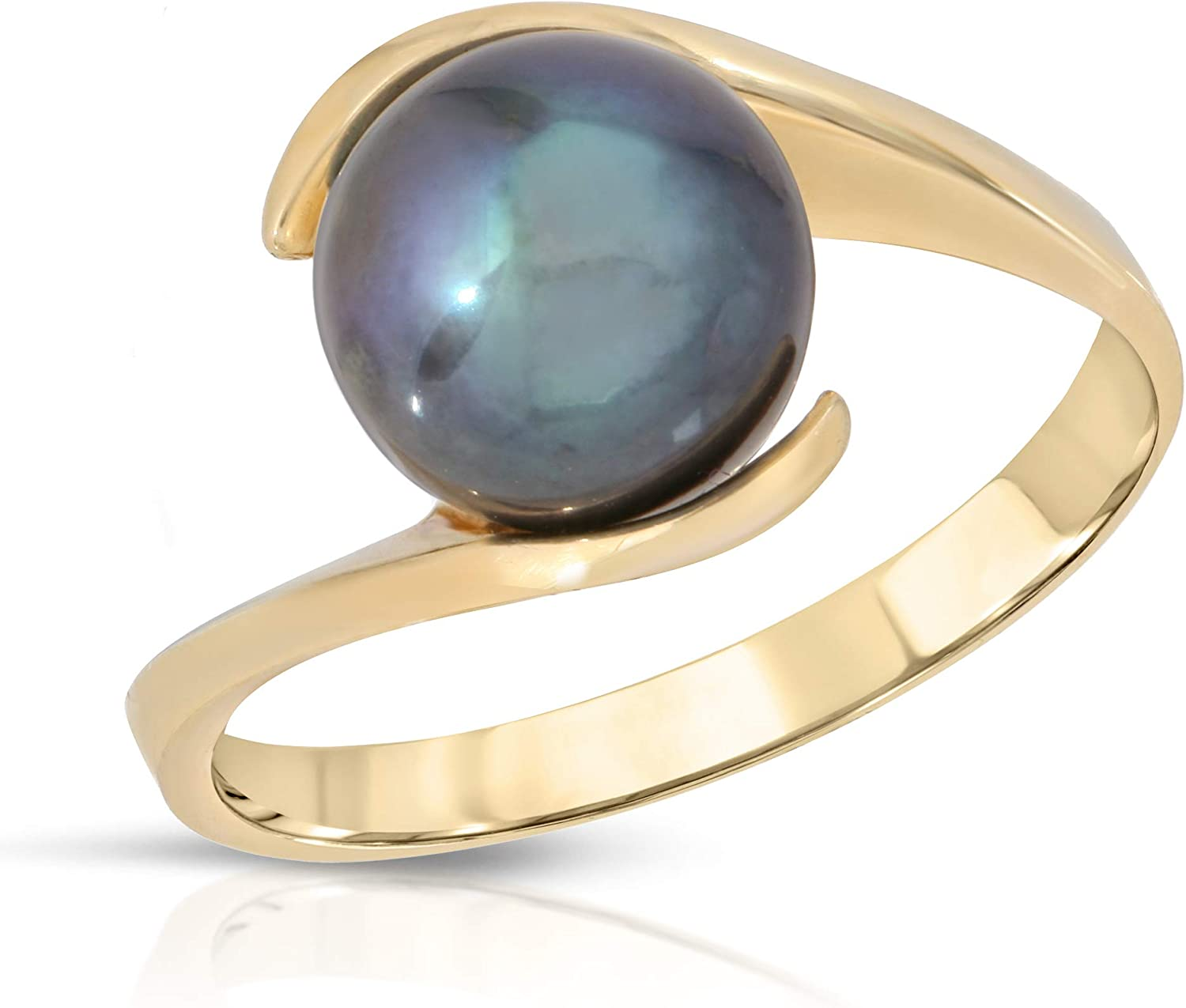 Regalia Cultured Pearl Ring 14K Yellow Gold - Size 7