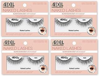 Ardell False Lashes, Naked Lashes 423 with Invisiband, 4 pairs