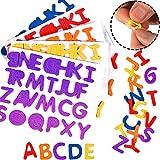 German-Trendseller - 320 x Selbstklebende Buchstaben ┃Schaumstoff ┃ Moosgummi ┃ Selbstklebend ┃ ABC ┃ Kinder lieben Diese Weichen Farbigen Schaumstoff Buchstaben!