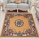 YFF Alfombra de estilo europeo Palace, para dormitorio, salón, café, cama, sofá, alfombra rectangular, 115 x 160 cm, y tonos [Wilton -