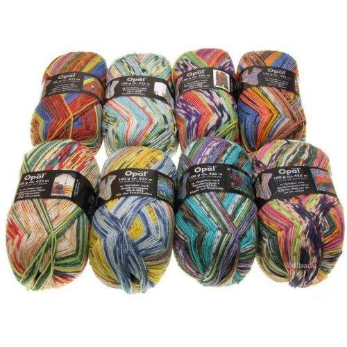 Opal Hundertwasser II–Sockenwolle Set 8x 100g