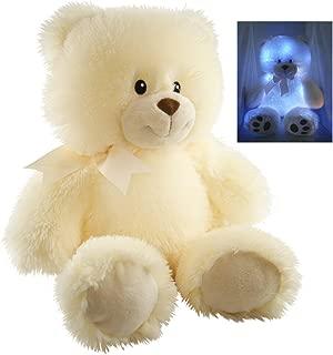 Cuddle Barn Cuddles the Cub Teddy Bear, Musical Stuffed Animal Plush Toy for Babies Glows and Plays 5 min Melody of