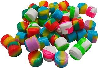 YHSWE 100Pcs 2ml Non-stick Silicone Oil Kitchen Concentrate Container Mini Round Multi Use Storage Jar Assorted Random Color