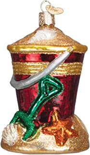 Old World Christmas Ornaments: Beach Bucket Glass Blown Ornaments for Christmas Tree