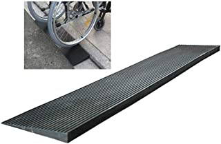 Rubber Kerb Ramps Threshold Slope Wheelchair Access Accessibility Wheel Slip Rubber PVC Mat Bearing Strong, 7 Sizes Bai yi...