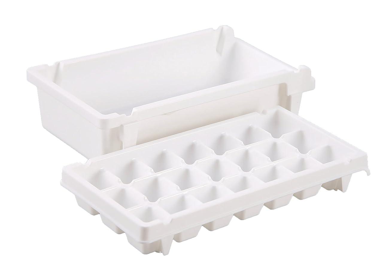 レベル検出する保有者パール金属 製氷皿 M 21個取 ボックス付 アイス トレー クーリス 日本製 H-5235