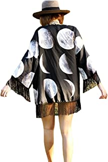 Bigbigfuture Women's Print Kaftan Loungewear Caftan Beach Long Dress Bikini Swimsuit Cover up Swimwear