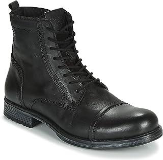 baddcd02ee5 Jack & Jones Jfwrussel Leather Anthracite 19, Botas Estilo Motero para  Hombre