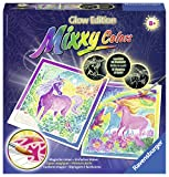 Ravensburger Mixxy Colors Traumhafte Einhörner - Einfaches Malen für Kinder ab 8 Jahren, Malset für Mädchen und Jungen, Motive leuchten im Dunkeln -