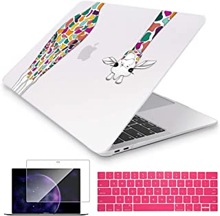 Mektron for New MacBook Pro 13 inch Case Touch bar 2016-2019 Release Model A2159/A1989/A1706/A1708 Colorful Giraffe Laptop Cover & Keyboard Skin & Screen Protector