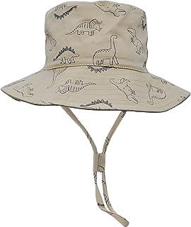 N\C Chapeau de Enfant Chapeau de Soleil Anti-UV en Coton pour Bébé Enfant Garçon Fille Bob de Plage Casquette Dinosaure Bé...