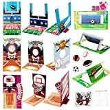 JOYIN 28 pcs Fun Valentine Sports Game Card and Erasers for Kids Party Favor, Classroom Exchange Prizes, Valentine's Greeting Cards