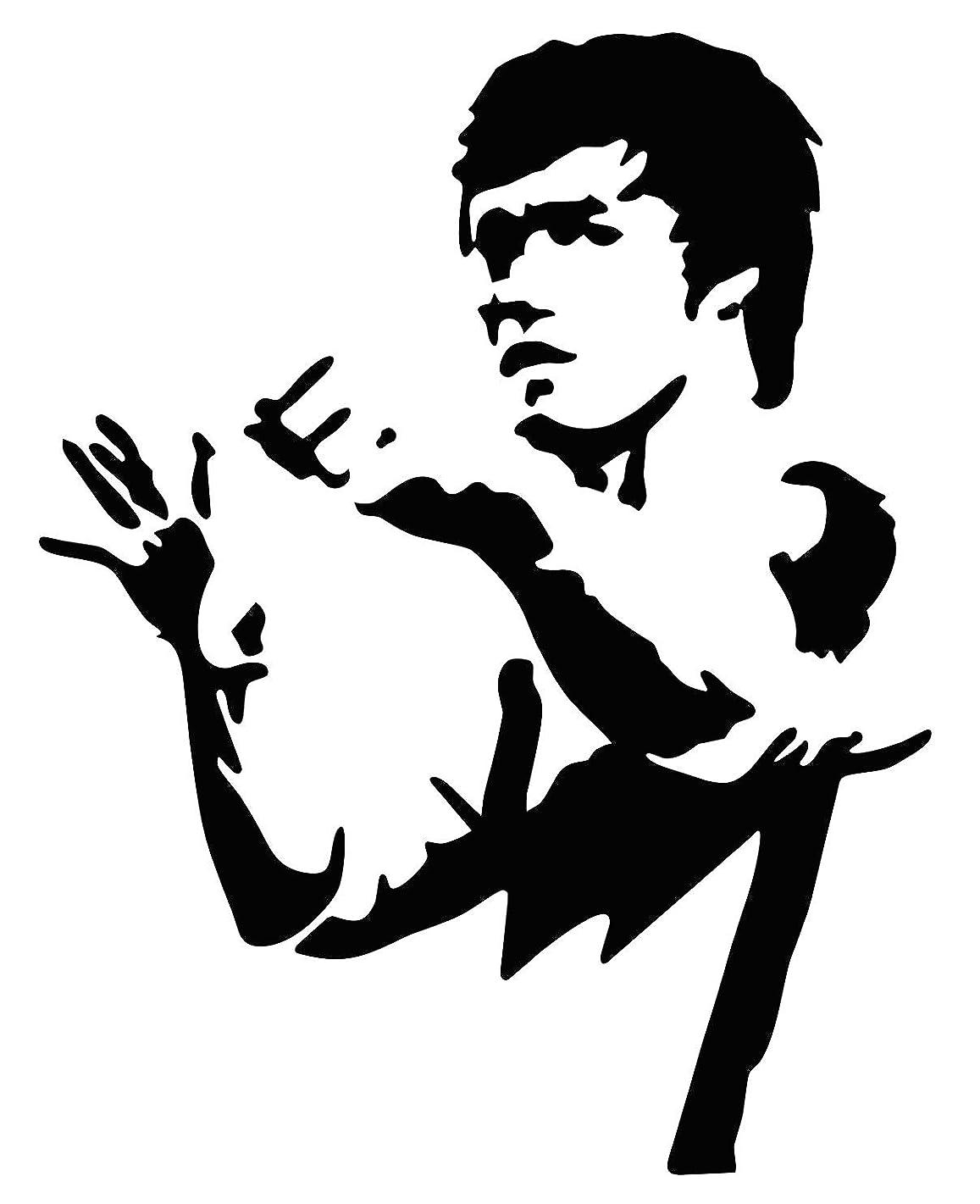 Karate Bruce Lee Martial Arts Wall Vinyl Decal Home Man Cave Decor Sticker