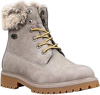 Lugz Women's Convoy Fur Classic 6-inch Chukka Fashion Boot, Warm Grey/Gum, 7, M