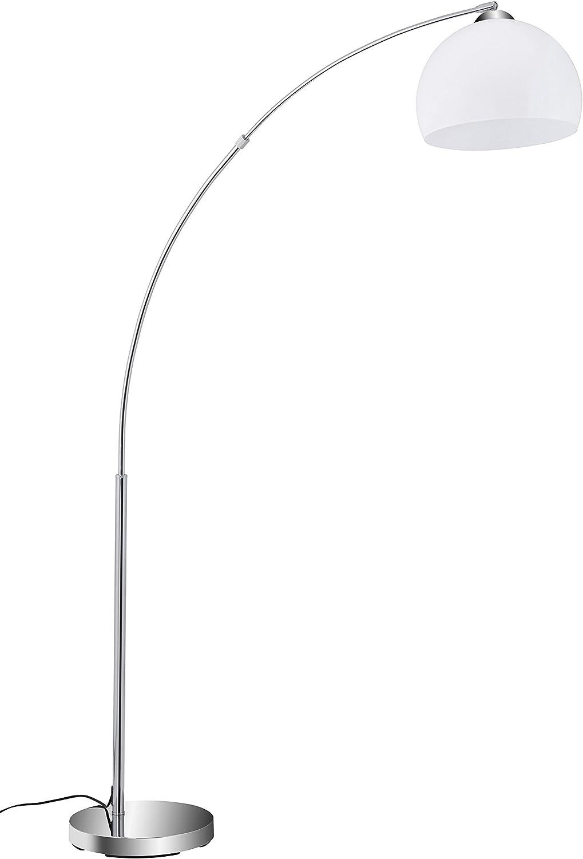 Briloner Leuchten - Stehlampe, Stehleuchte, Bogenleuchte, Metall, E27, Chrom-Wei, 168 x 124.4 x 168 cm