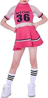 Niñas de impresión de Malla Elegante Vestido de Costura Hip Hop Dancewear Traje de Rendimiento