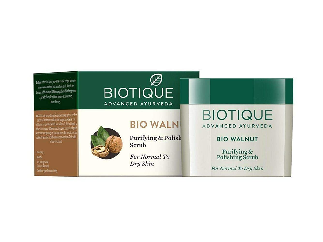 レモン実行する財政Biotique Bio Walnut Purifying & Polishing Scrub, 50g get rid of the dead cells