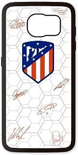 PHONECASES3D Funda móvil Atlético de Madrid Firma Jugadores Compatible con Samsung Galaxy S6. Carcasa de TPUde Alta protección. Funda Antideslizante, Anti choques y caídas.