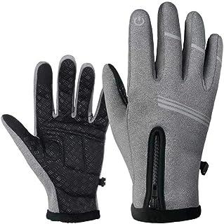 EODNSOFN Nouveaux gants chauffants pour cyclisme Gants d'hiver Full Finger anti-dérapant Vélo à la coupe d'hiver confortab...